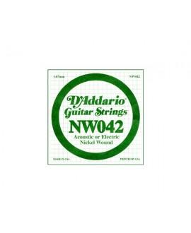 Cuerda Guitarra Eléctrica D´Addario NW-042