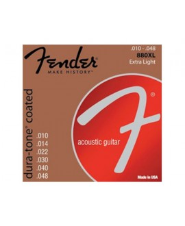 Juego Cuerdas Guitarra Acústica Fender 880XL
