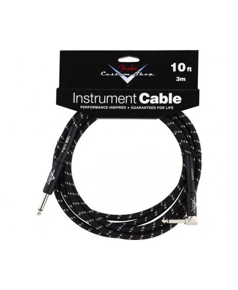 Cable Acodado Jack-Jack Fender Black Tweed 3 m.
