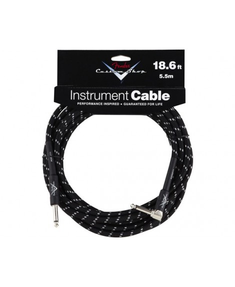 Cable Acodado Jack-Jack Fender Black Tweed 5,5 m.