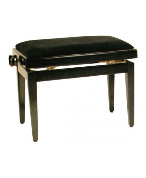 Banqueta Piano Rectangular Acabado Negro 1084AN