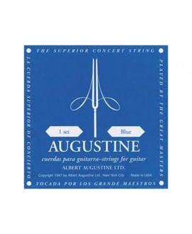 Juego Cuerdas Guitarra Clásica Augustine Azul