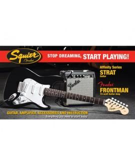 Pack Guitarra Eléctrica Squier Affinity Strat Frontman 10-G