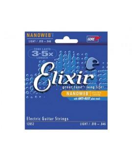 Juego Cuerdas Guitarra Eléctrica Elixir 12052 Nanoweb 010-046