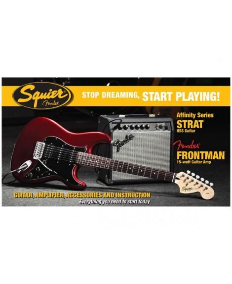 Pack Guitarra Eléctrica Squier Affinity Strat HSS Frontman 15-G