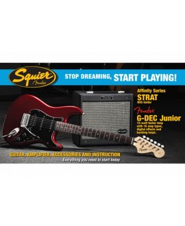 Pack Guitarra Eléctrica Squier Affinity Strat HSS G-DEC Junior