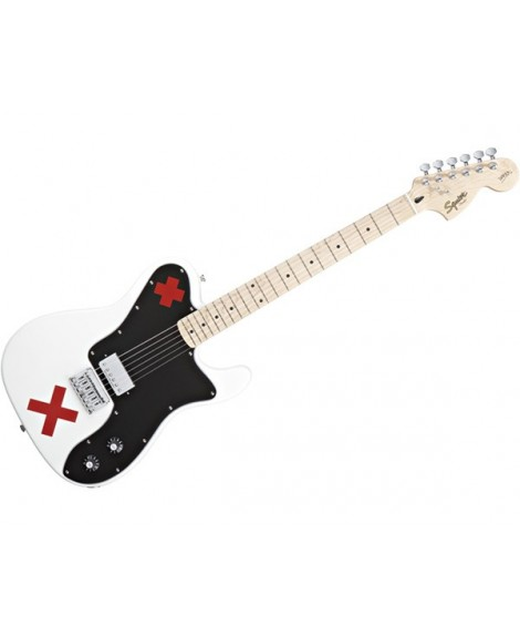 Guitarra Eléctrica Squier Telecaster Deryck Whibley Olympic Whit