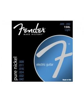 Juego Cuerdas Guitarra Eléctrica Fender 150L Pure Nickel 09-42