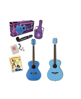 Pack Guitarra Acústica Daisy Rock Pixie Starter Pack Blue