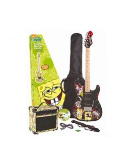 Pack Guitarra Eléctrica Bob Esponja Black SBE0FTBLK