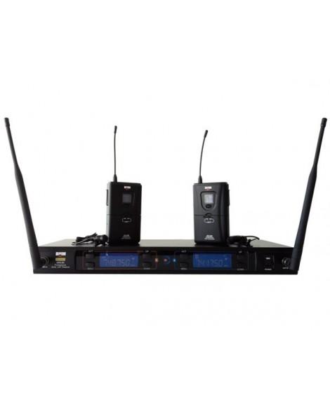 Sistema Inalámbrico Doble Micro Lavalier BHM MWS-200 UHF