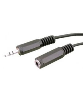 Cable Jack Macho Estéreo 3'5 mm a Jack Hembra Estéreo 3'5 mm 3m.