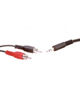 Cable Inyectado 2RCA - Mini Jack Stereo 1m