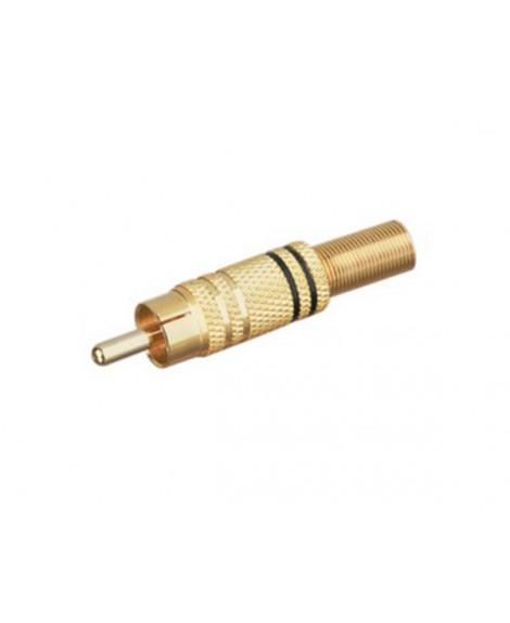 Conector Macho Coaxial RCA Metálico