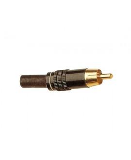 Conector RCA Macho Aéreo Metálico Work CA83
