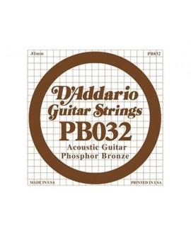 Cuerda Guitarra Acústica D´Addario PB-032