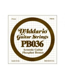 Cuerda Guitarra Acústica D´Addario PB-036