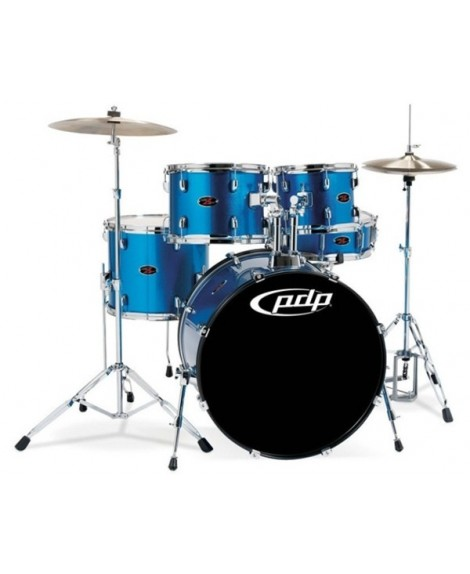"Batería Acústica PDP by DW Z5 AQUA BLUE 22"""