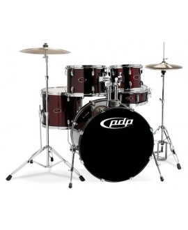 Batería Acústica PDP by DW Z5 BLACK CHERRY 22""