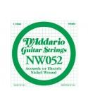 Cuerda Guitarra Eléctrica D´Addario NW-052