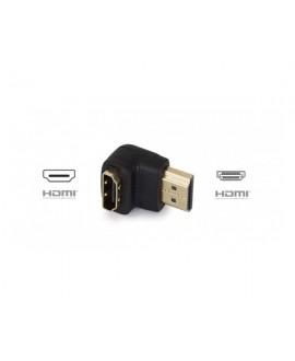 Adaptador HDMI 90º Hembra Macho Señal A/V Digital