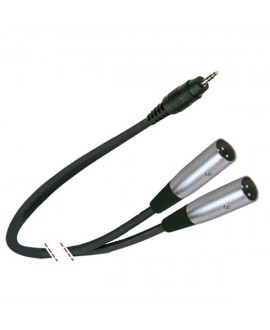 Cable Jack Mini Stereo a 2 XLR Macho